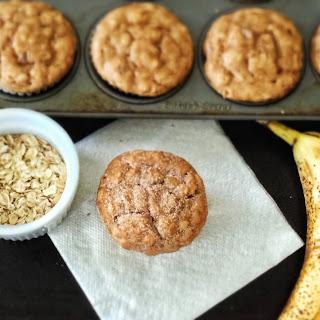 Peanut Butter Banana Oatmeal Muffins.