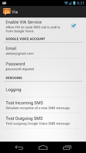 Aerize Via for Google Voice