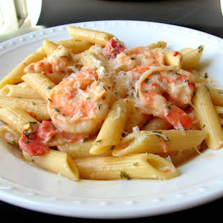 Penne with Shrimp & Herbed Cream Sauce.