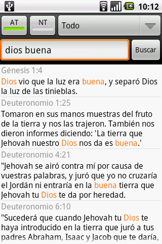 Santa Biblia RVA (Holy Bible)- screenshot