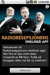 Radioresepsjonens Oneliner-app - screenshot thumbnail