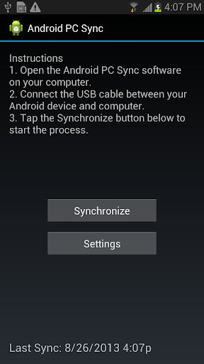 Outlook USB Sync for Android