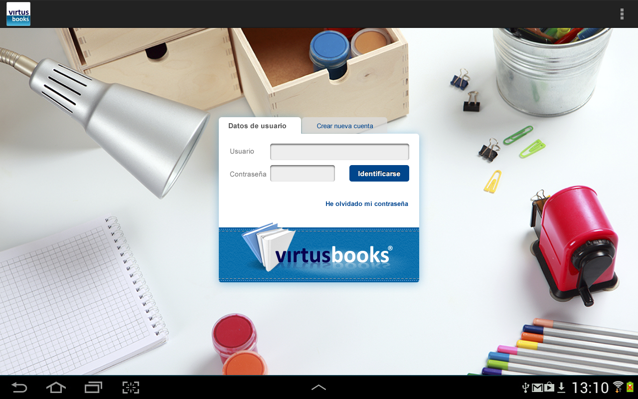 VirtusBooks- screenshot