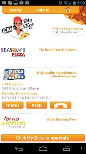 ClickMySlice Pizza Online - screenshot thumbnail