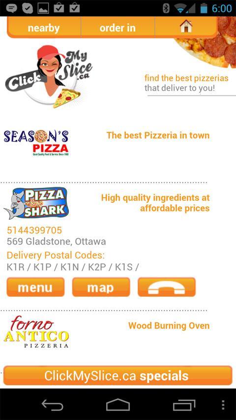 ClickMySlice Pizza Online - screenshot