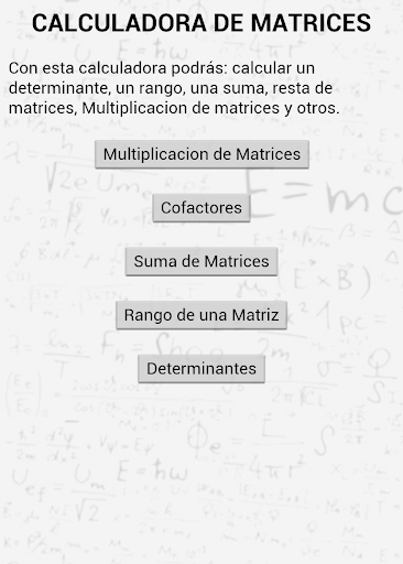 Calculadora de matrices
