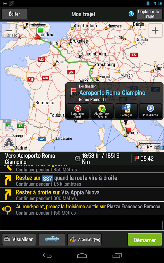 CoPilot Premium Europe l'Ouest - screenshot