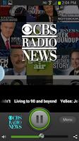 Screenshot of CBS Radio News