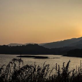 Sunset at Banasura Dam by Arun Prasanna - Nature Up Close Water ( #sunset #kerala #tranquil )