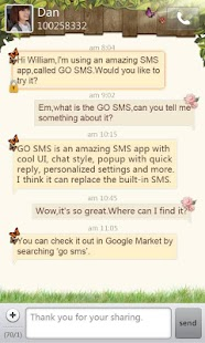 GO SMS Pro Springtime theme- screenshot thumbnail