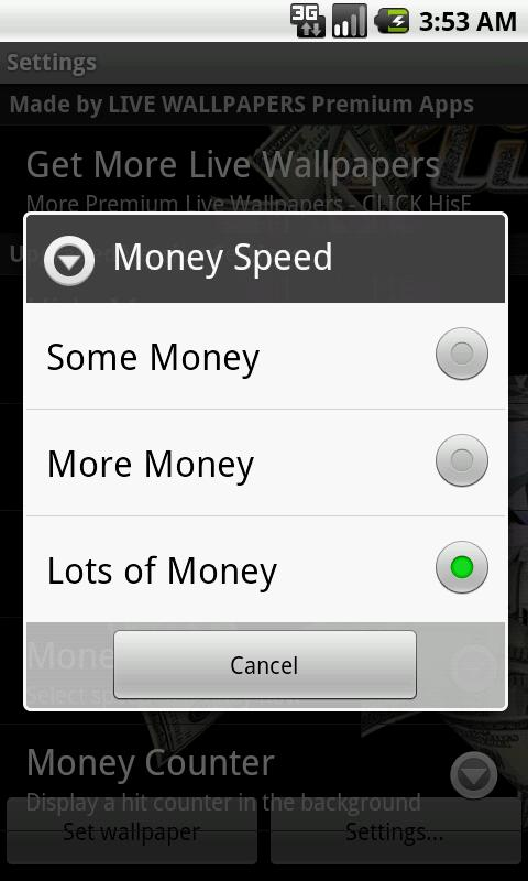 Bling Money Wallpaper Game - screenshot