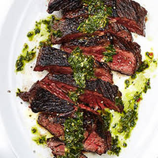 Sliced Hanger Steak.