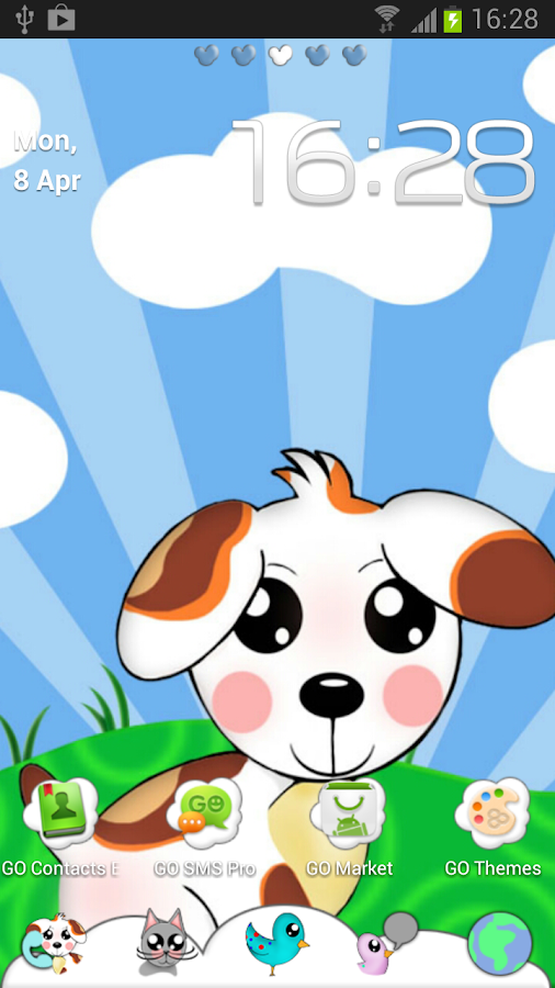 Cute Animals GO Launcher Theme- screenshot