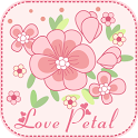 Love Petal GO Getjar Theme icon