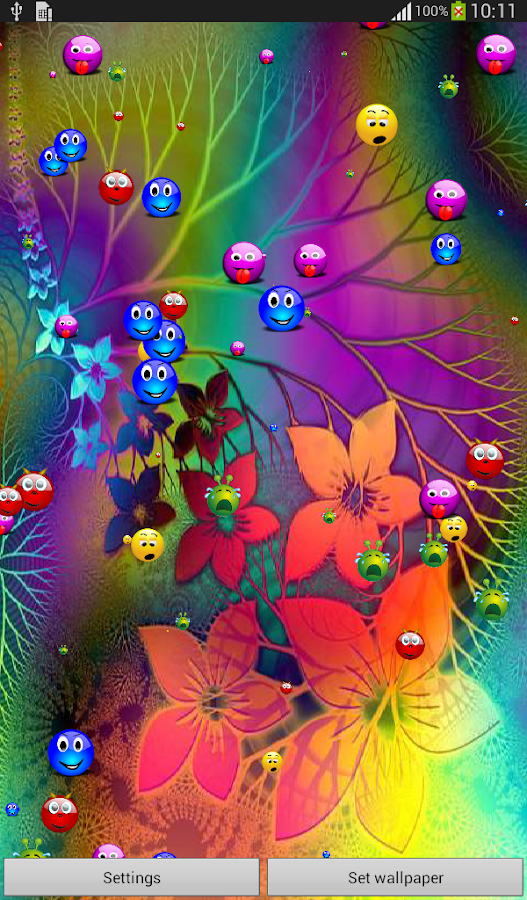 colorful smiley live wallpaper android apps on google play