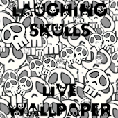 Laughing Skulls Live Wallpaper