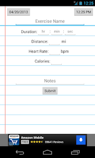 Simple Workout Log - screenshot thumbnail