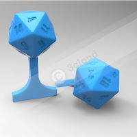 Cufflink with Dice Logo 2
