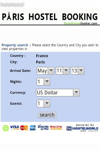 Paris hostel booking