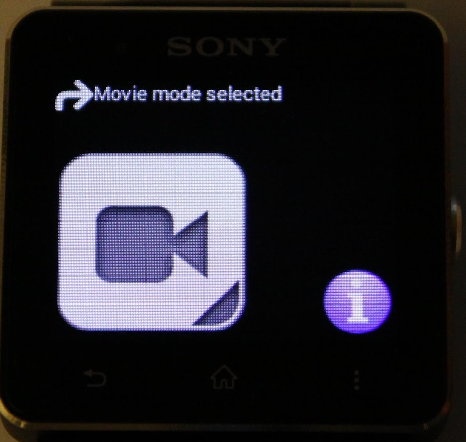 SONY CAM SMARTWATCH CONTROL- screenshot