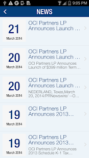 OCI Partners LP IR- screenshot thumbnail