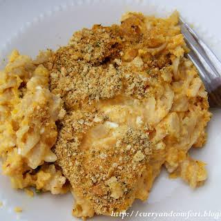 Sweet Potato Mac and Three Cheese.