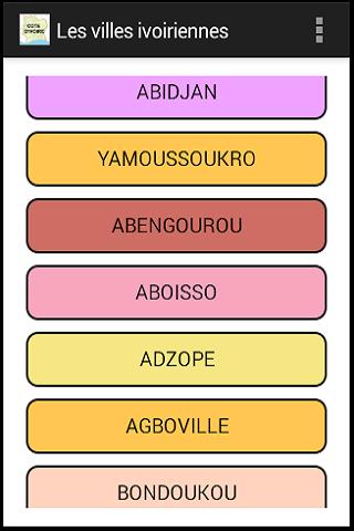 Les villes ivoiriennes