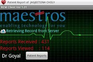 Screenshot of eUno R10 Mobile Telecardiology