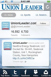Union Leader News - screenshot thumbnail
