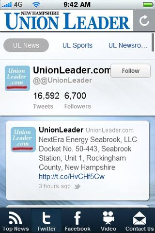 Union Leader News - screenshot