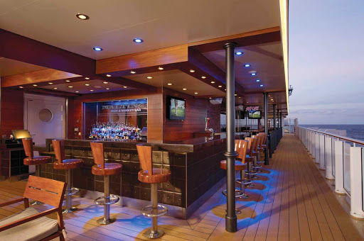 Norwegian-Breakaway-Maltings - Grab a drink at Norwegian Breakaway's Maltings, where you can enjoy the ocean the view and meet new friends over a beer or whiskey drink.