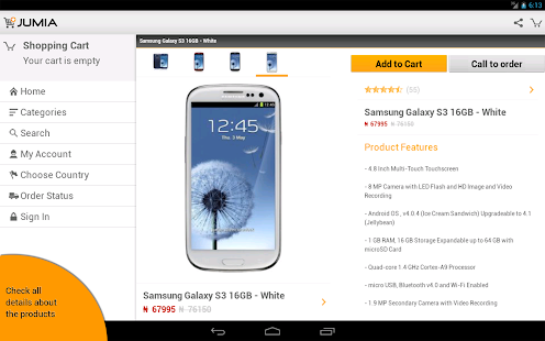 JUMIA App for Android - screenshot thumbnail