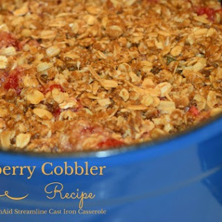Easy Raspberry Cobbler