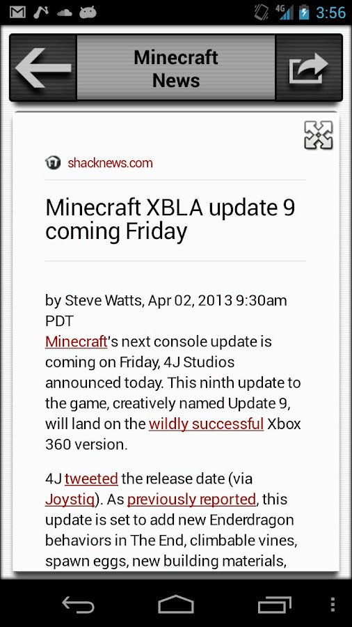 News for Minecraft - screenshot