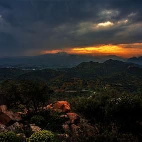 Somewhere far Beyond  by Gabriele Copez - Landscapes Mountains & Hills ( clouds, sardegna, mountains, sardinia, landscape, storm )