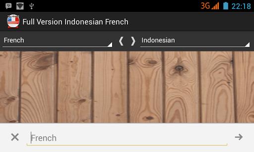 Kamus Indonesian French PRO