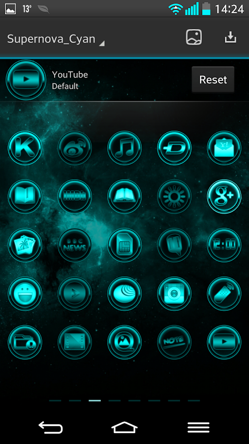 NEXT LAUNCHER THEME SUPERNOVAc- screenshot