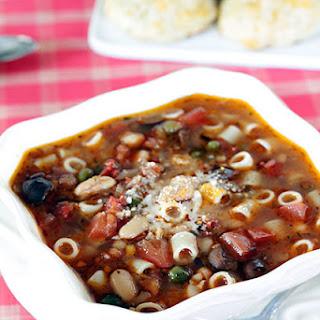 Pasta Puttanesca Soup