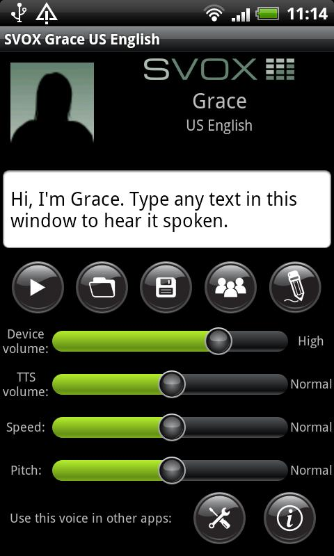 SVOX US English Grace Voice - screenshot