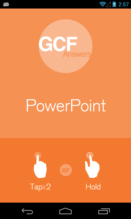 GCF Answers for PowerPoint - screenshot