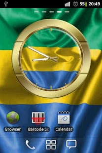 Gabon flag clocks- screenshot thumbnail
