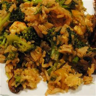 Broccoli and Rice Stir Fry.