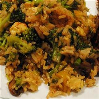 Broccoli and Rice Stir Fry.