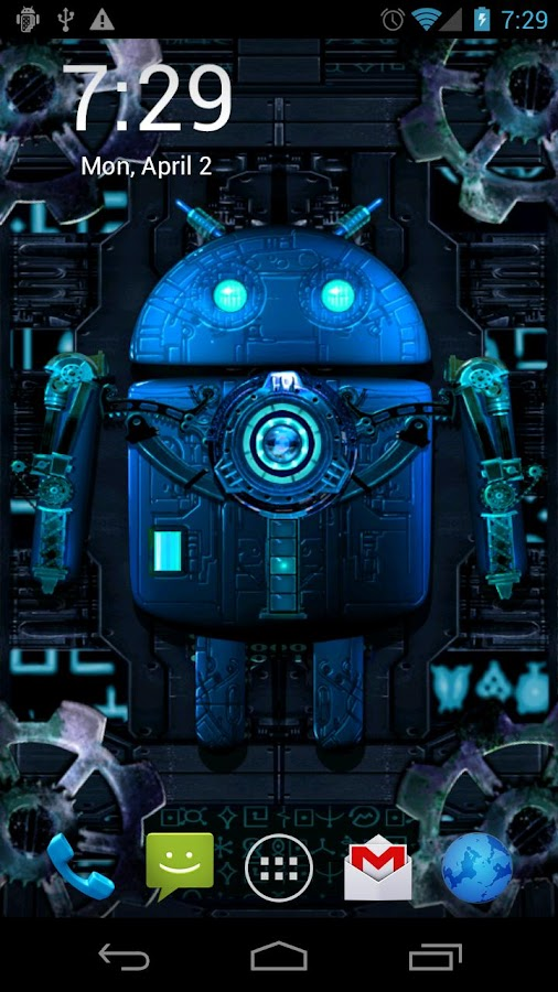 Steampunk Droid Live Wallpaper- screenshot