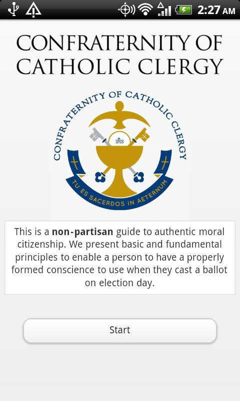 Catholic Voting Guide - screenshot
