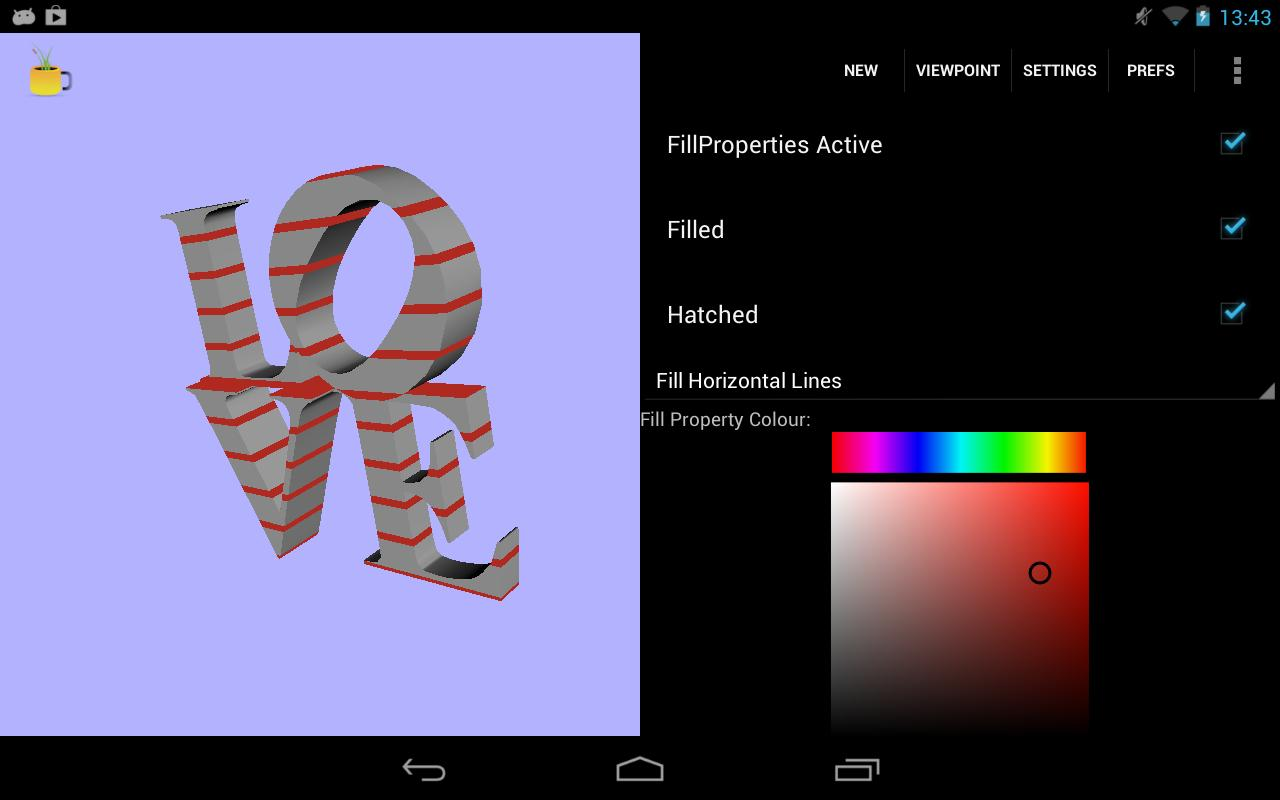 FreeX3D: VRML, X3D, STL Viewer - screenshot