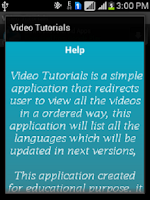 Screenshot of Video Tutorials