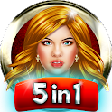 5 in 1 Girl Games icon