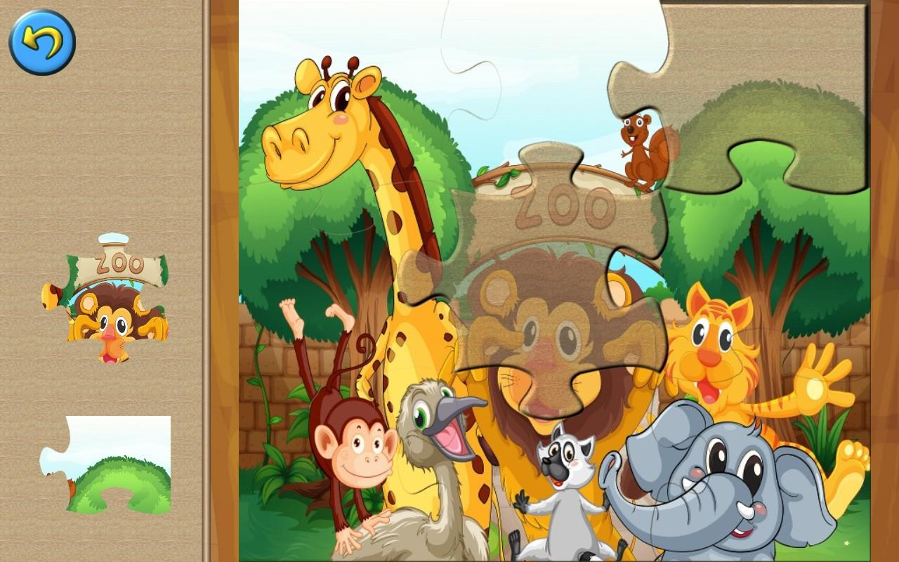 zoo animal puzzles for kids screenshot
