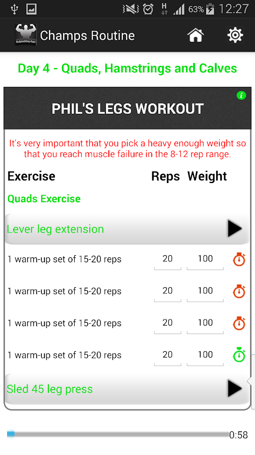 The Superstars Workout Free- screenshot